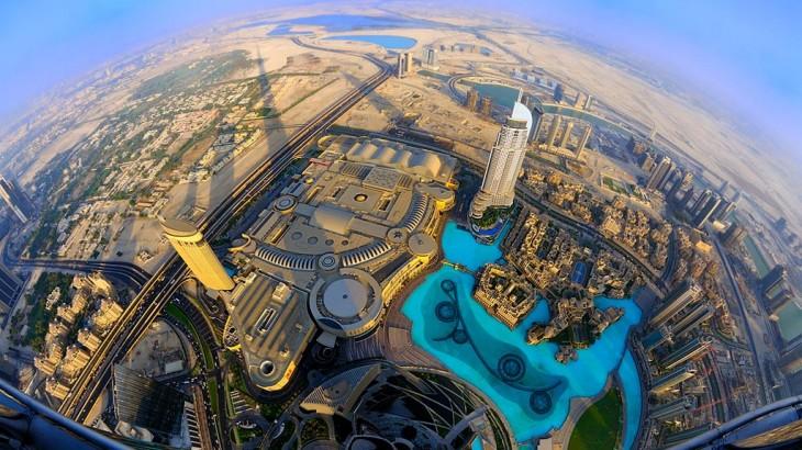 Mirador de cristal Burj Khalifa, el edificio más alto del mundo