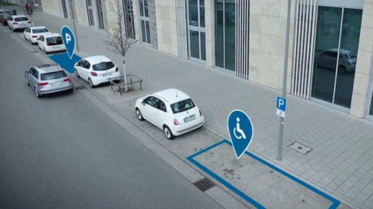 el gps busca aparcamientos cercanos libres