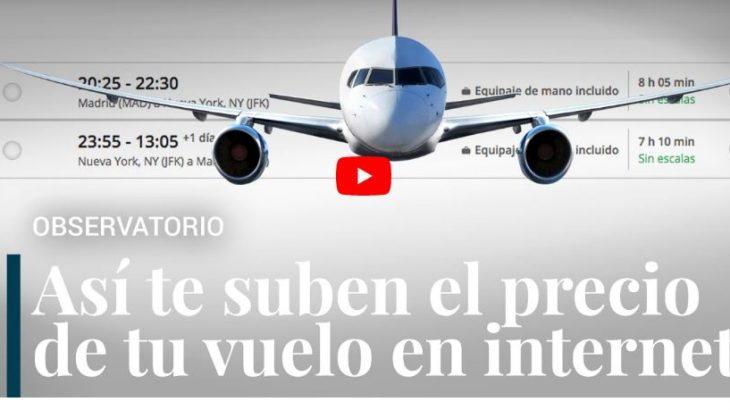 conseguir que no te suban el precio de los billetes de avión