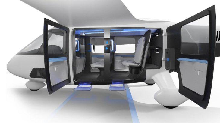 Uber exhibe una maqueta de cabina de un concepto de taxi aéreo