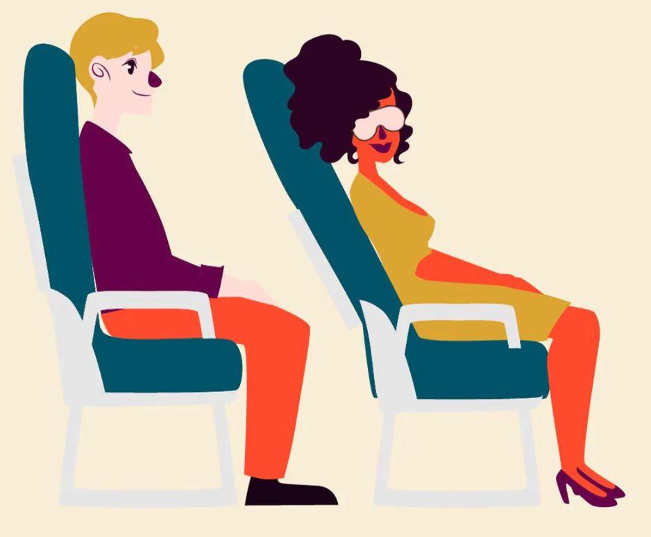 Cuándo reclinar el asiento en un avión